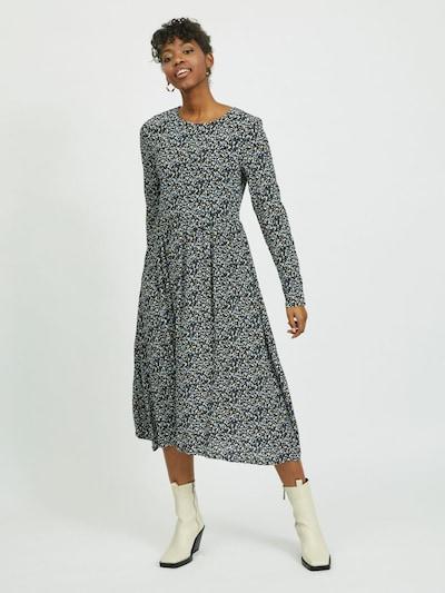 VILA Kleid 'Anma' in beige / blau / schwarz: Frontalansicht