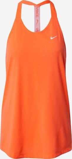 NIKE Športni top | svetlo siva / oranžna barva: Frontalni pogled