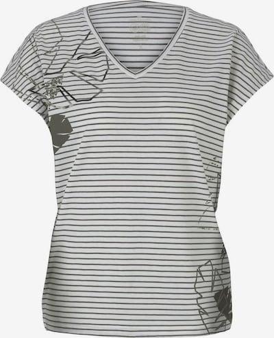 TOM TAILOR T-shirt en kaki / blanc cassé, Vue avec produit