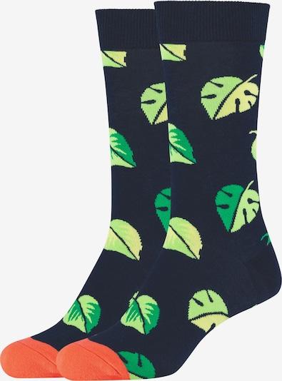 FUN Socks Socken in dunkelblau / grün / orange, Produktansicht