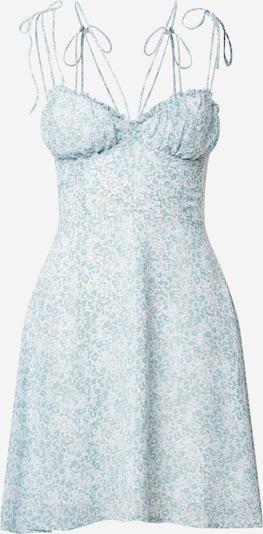 Parallel Lines Robe d'été en bleu clair / blanc, Vue avec produit