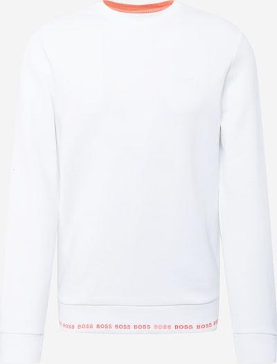 BOSS ATHLEISURE Sweatshirt 'Salbo' i koral / hvid, Produktvisning