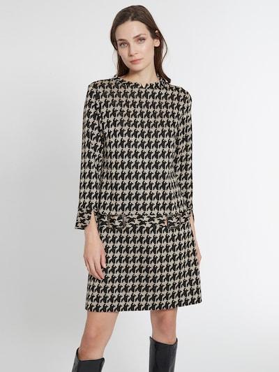 Ana Alcazar Kleid in beige / schwarz, Modelansicht