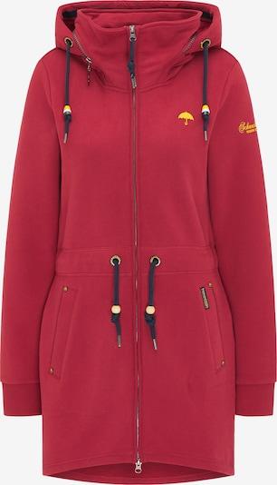 Schmuddelwedda Sudadera con cremallera en rojo, Vista del producto