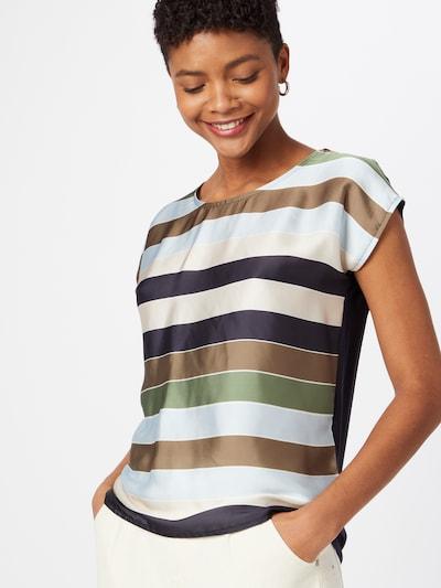 MORE & MORE T-Shirt in beige / marine / hellblau / oliv, Modelansicht
