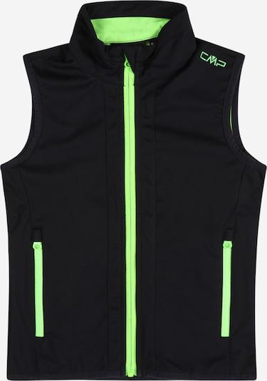 CMP Bodywarmer in de kleur Neongroen / Zwart, Productweergave