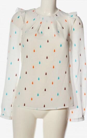 NIFE Langarm-Bluse in XS in blau / hellorange / weiß, Produktansicht