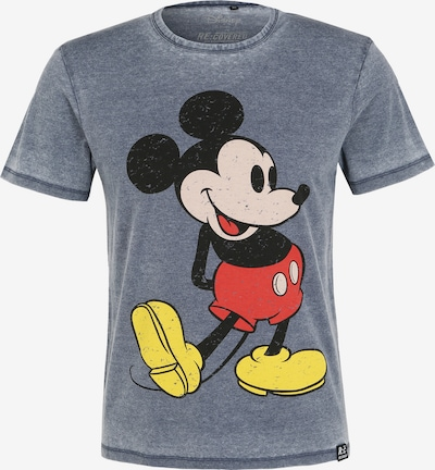 Recovered T-Shirt 'Disney Mickey Mouse' in blau / gelb / rot / schwarz, Produktansicht
