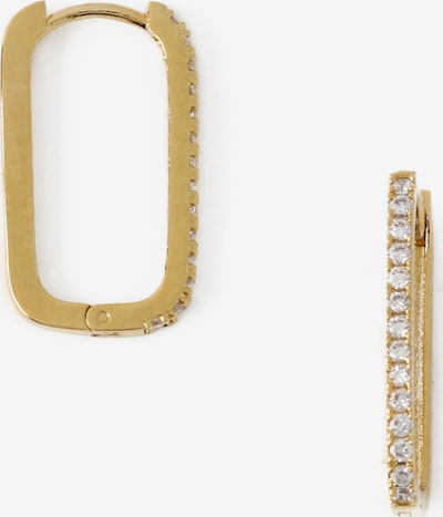 Orelia Boucles d'oreilles en or / transparent, Vue avec produit