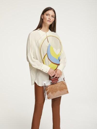 Bluză heine pe bej / gri, Vizualizare model