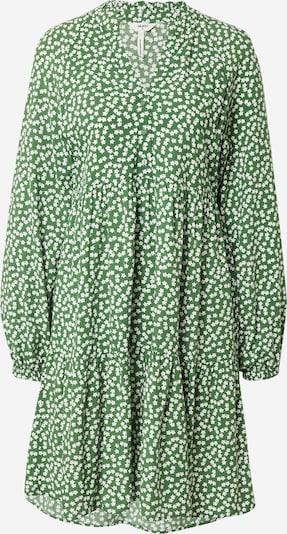 OBJECT Blusenkleid 'Elise' in grün / weiß, Produktansicht