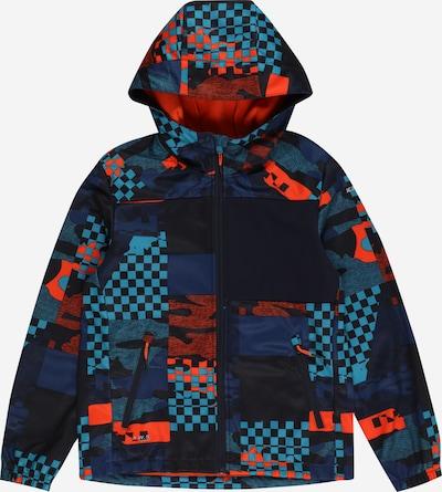 ICEPEAK Outdoorová bunda 'KEO' - námornícka modrá / tyrkysová / tmavomodrá / oranžovo červená: Pohľad spredu