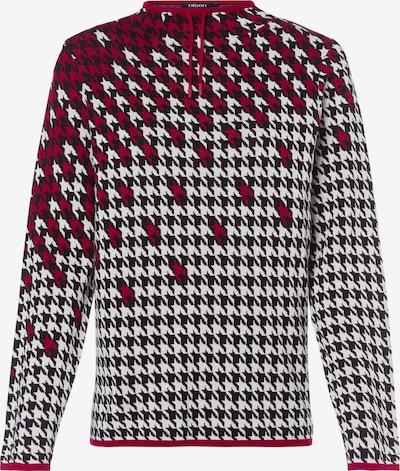 Olsen Pullover 'Henny' in grenadine / schwarz / weiß, Produktansicht