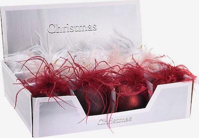 Koopman 12-tlg. Weihnachtskugel-Set 'Federn' in rosa / puder / bordeaux / weiß, Produktansicht