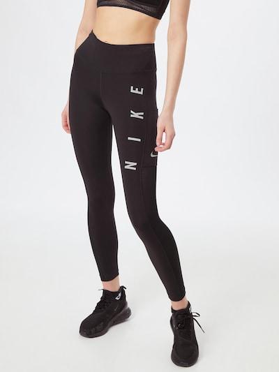 NIKE Športne hlače 'Epic Fast Run Division' | črna / bela barva, Prikaz modela