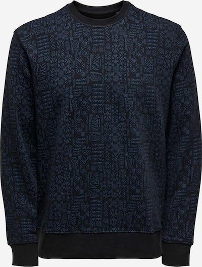 Only & Sons Sweatshirt in de kleur Navy / Zwart, Productweergave