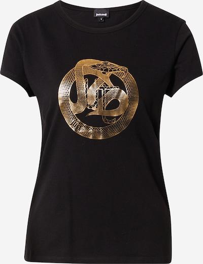Tricou Just Cavalli pe auriu / negru, Vizualizare produs