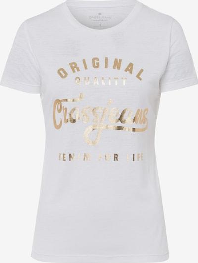 Cross Jeans T-Shirt in gold / weiß, Produktansicht