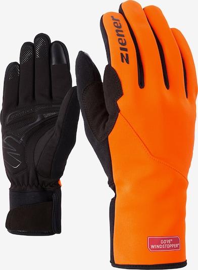ZIENER Fahrradhandschuhe 'DAGUR GWS TOUCH' in orange / schwarz, Produktansicht