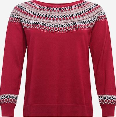 Esprit Curves Sweter w kolorze różowy pudrowy / bordowy / czarnym, Podgląd produktu