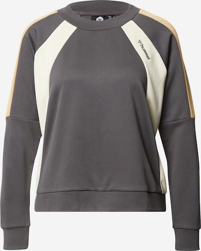 Hummel Sportsweatshirt 'CHRISTY' in stone / weiß, Produktansicht