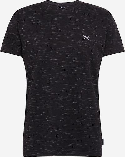 Iriedaily Shirt 'Minimash' in schwarzmeliert / weiß, Produktansicht