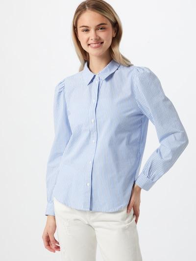 ONLY Bluse 'Betty' in rauchblau / weiß, Modelansicht