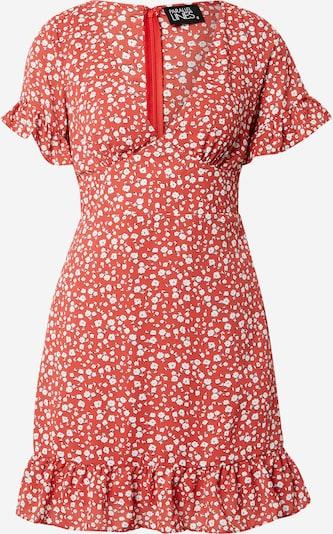 Parallel Lines Kleid in nachtblau / grenadine / weiß, Produktansicht