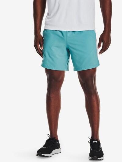 UNDER ARMOUR Sportbroek 'Launch' in de kleur Lichtblauw / Wit: Vooraanzicht