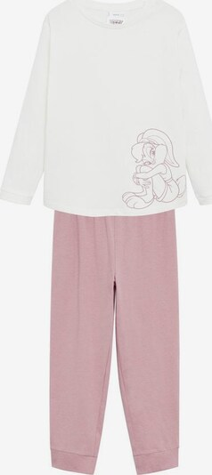 MANGO KIDS Pyjama 'Bunny' in rosegold / weiß, Produktansicht