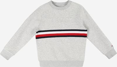 Bluză de molton TOMMY HILFIGER pe bleumarin / gri / gri deschis / roșu / alb, Vizualizare produs