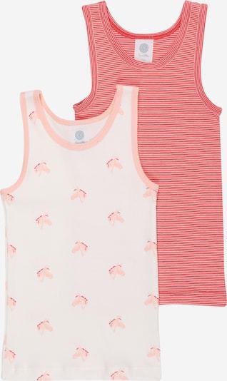 Maglietta intima SANETTA di colore pesca / rosso / bianco, Visualizzazione prodotti