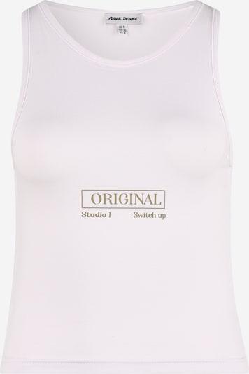 Public Desire Top in brokat / weiß, Produktansicht
