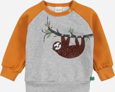 Fred's World by GREEN COTTON Collegepaita 'Sloth' värissä ruskea / meleerattu harmaa / vaaleanvihreä / tummanoranssi, Tuotenäkymä