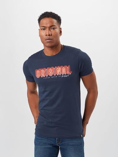 SHINE ORIGINAL Tričko - tmavomodrá / svetločervená / biela: Pohľad spredu