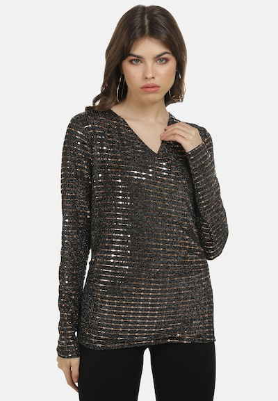 myMo at night Blouse in de kleur Goud / Zwart, Modelweergave