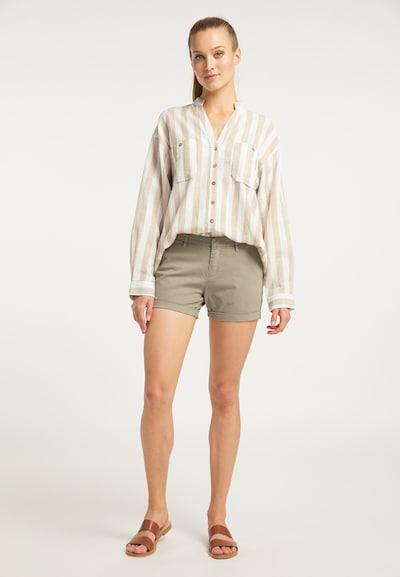 DreiMaster Vintage Shorts in dunkelbeige, Modelansicht