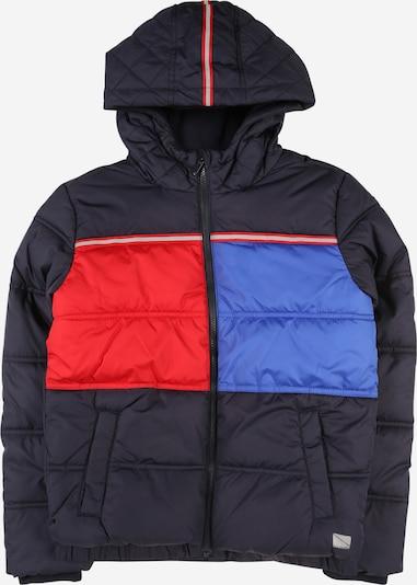 s.Oliver Junior Zimska jakna u mornarsko plava / nebesko plava / jarko crvena, Pregled proizvoda
