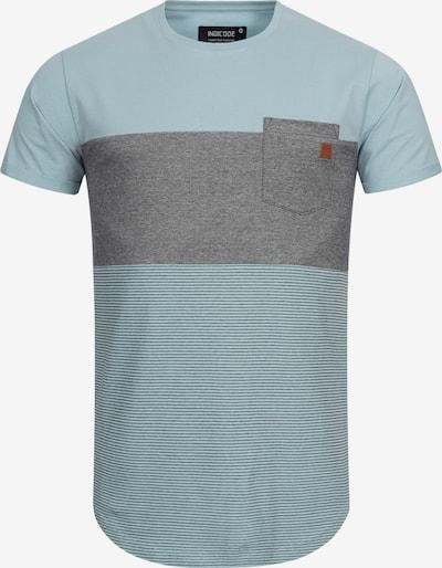 INDICODE JEANS T-Shirt 'Porter' in hellblau / graumeliert, Produktansicht
