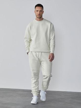DAN FOX APPAREL teplákové nohavice 'Danilo' v bielej farbe