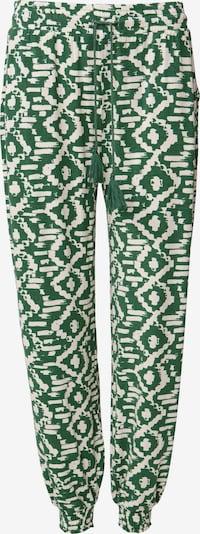 Indiska Pantalon harem 'Radhaa' en vert / blanc, Vue avec produit