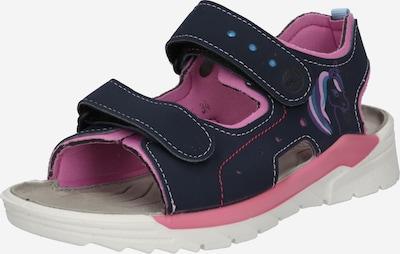 RICOSTA Chaussures ouvertes 'Surf' en bleu foncé / pétrole / violet foncé / rose clair, Vue avec produit