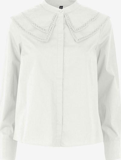 PIECES Blus 'Elvie' i vit: Sedd framifrån