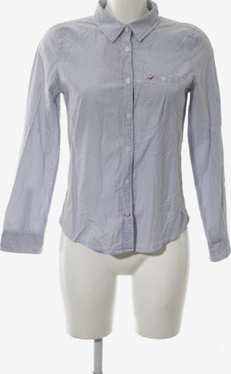 HOLLISTER Langarmhemd in S in blau / weiß: Frontalansicht