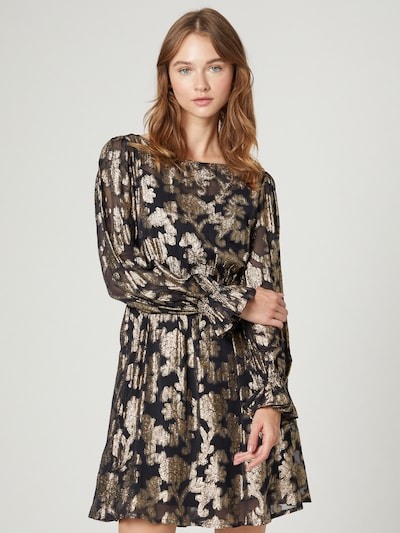Guido Maria Kretschmer Collection Robe 'Elenia' en or / noir, Vue avec modèle