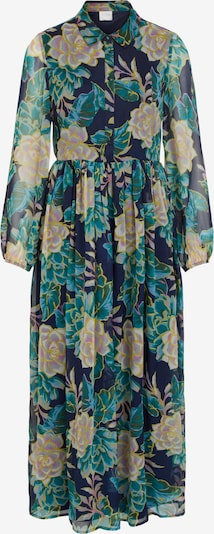 VILA Kleid 'Erica' in blau / marine / gelb / petrol / rosé, Produktansicht