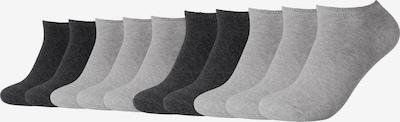 camano Sneakersocken in grau / schwarz, Produktansicht