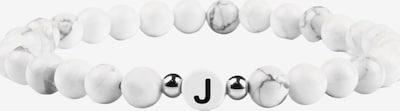 GOOD.designs Armband 'Ab-Weiss-J' in schwarz / weiß, Produktansicht