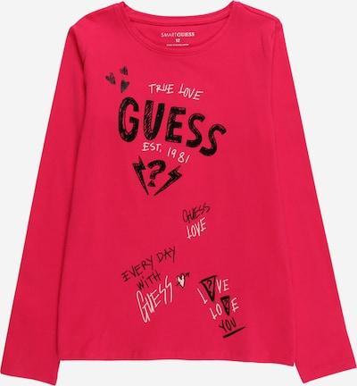 GUESS Shirt in pitaya / schwarz / weiß, Produktansicht