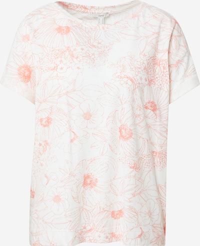 ESPRIT Shirt in de kleur Sinaasappel / Offwhite, Productweergave